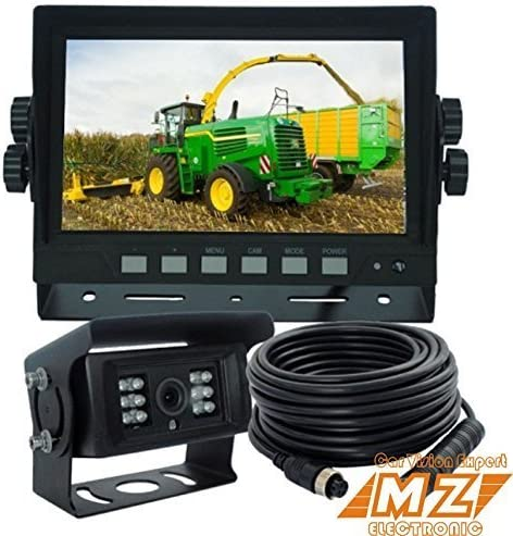 Waterproof IP69K Heavy Duty Camera Vibration-Proof 10G for Tractor//Truck//RV//Excavator//Caravan//Skid Steer//Heavy Equipment AUTOPAL 7 Wired Reverse Rear View Backup Camera System Night Vision