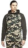Nike Mens Therma Standard Fit Camo Hoodie Green XXL