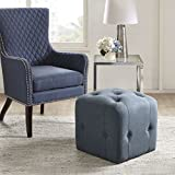 Marion Cube Ottoman Blue See below
