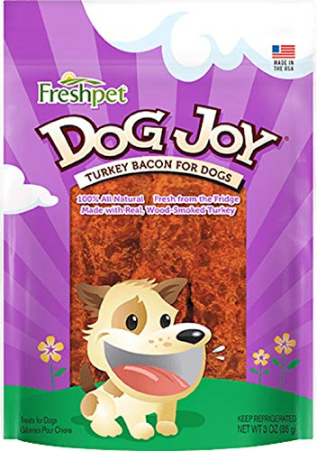 Freshpet 100% All Natural Dog Joy Turkey Bacon for Dogs, 3 Oz (pack Of 6)
