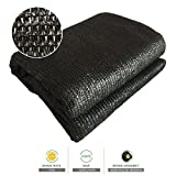 Sun Shade Cloth Zenda 70% Sunblock Black Greenhouse Shade Net 10'x20' UV Block Shade Tarp with Black Reinforced Binding& Brass Grommets for Garden Plants