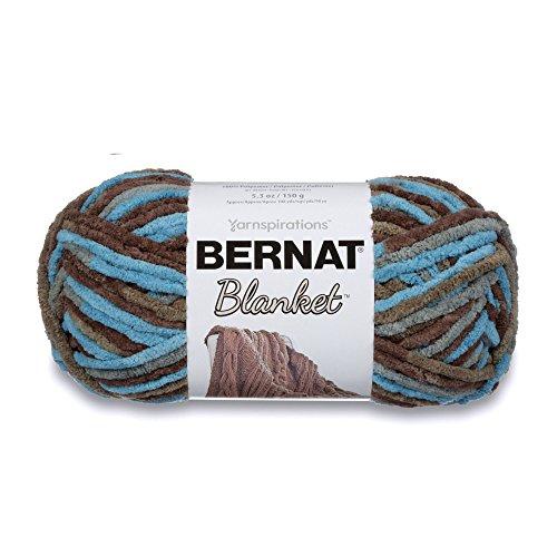 (Bernat Blanket Super Bulky Yarn, 5.3oz, Guage 6 Super Bulky, Coastal Cottage)