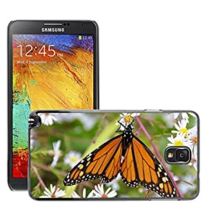 Etui Housse Coque de Protection Cover Rigide pour // M00152003 Mariposa Insectos Naturaleza Bug // Samsung Galaxy Note 3 III N9000 N9002 N9005