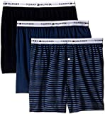 Tommy Hilfiger Men's Underwear 3 Pack Cotton Classics Knit Boxers, Multi, Large