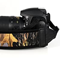 FotoTech shoulder/grip Neck Strap Belt for Canon Nikon Sony Panasonic Fujifilm Olympus Pentax Sigma DSLR/SLR/EVIL Camera with FotoTech Velvet Bag by FotoTech
