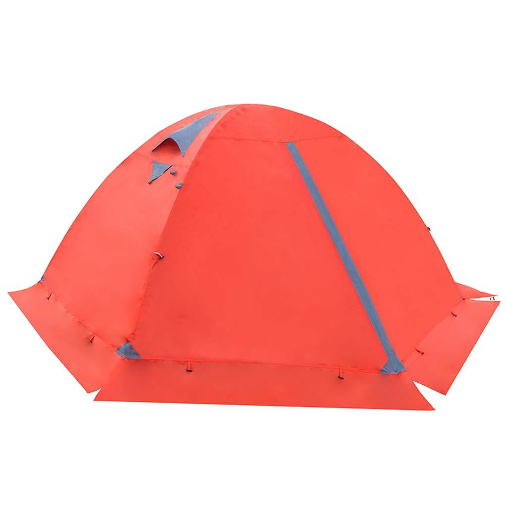 AX-outdoor products Doppeltes kampierendes Überdachungszelt des Zeltes im Freien Doppeltes Wasserdichtes Markisenpolyestertuch mit Schneescheibe/rote Farbe 210  140  110cm