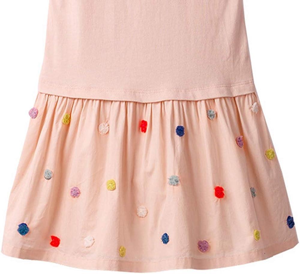 Winzero Baby Girls Cartoon Long Sleeve Party Princess Dress