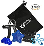 Hand Grip Forearm & Finger Strengthener and Exerciser Bundle Kit! Increase your Dexterity, Perfect for Physical Therapy, Flexibility, Stress Relief, and Musicians!!! Review