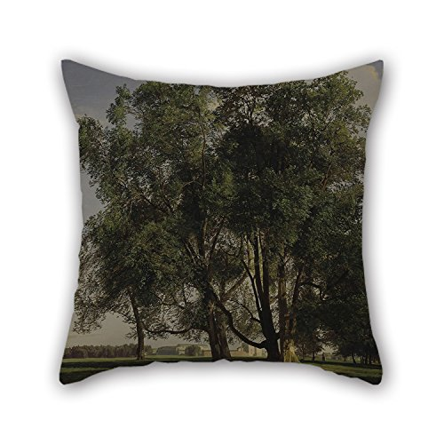 artistdecor Pillow Shams 20 X 20 Inches / 50 by 50 cm(Each Side) Nice Choice for Chair,Office,Birthday,Wife,Teens Girls,Adults Oil Painting Ferdinand Georg Waldmüller - Praterlandschaft ()