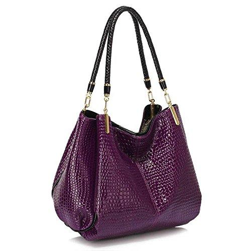 TrendStar Frau Entwerfer Taschen Damen Mode Trage imitat Leder Schulter Handtaschen A - lila l9RXjybN1T