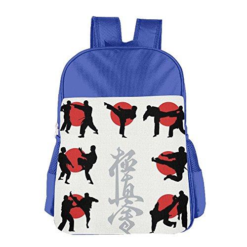 SARA NELL Elementary School Boys Girls Bag Japan Karate School Backpack Book Bag
