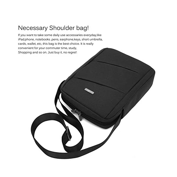 CoolBELL-106-Inch-Shoulder-Bag-Carrying-Day-Bag-with-Adjustable-Shoulder-Strap-Simple-Style-Sleeve-Case-for-TabletiPad-Black