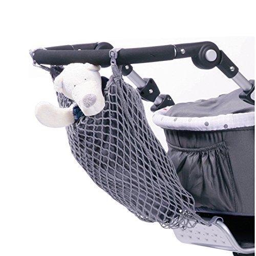 Smart-Planet® hochwertiges Universal Kinderwagen Einkaufsnetz / Einkaufs- Tasche mit Innenfutter (600202) / Einfache Anbringung mit Klett - Einkaufstasche / Tragetasche in schwarz
