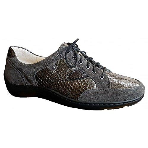 Womens Henni 846 315 Brown 496023 Grey Lace Shoes Waldlaufer Up q5AUqd