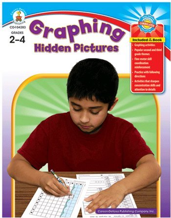 Graphing Hidden Pictures, Grades 2-4 by Frank Schaffer Publications/Carson Dellosa - Graphing Frank Schaffer