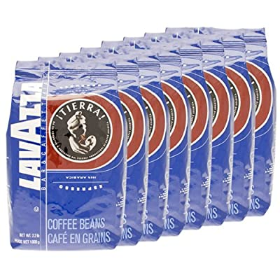 Lavazza Coffee Espresso Tierra, Whole Beans, Pack of 8, 8 x 1000g