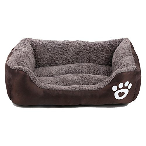 Zodae Pet Lounger Ped Bed Premium Bedding with Super Soft Padding and Anti-Skid Bottom for Dogs & Cats [Lightweight, Self-Warming](L)-Coffee