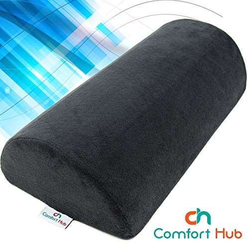 Comfort Hub Ergonomic Foot Rest Cushion - Gel-Enhanced Memory Foam Under Desk Footrest Pad for Your Home and Office Workstation - Get Relief from Knee and Back Pain with This Ergo Foot Support by Comfort Hub