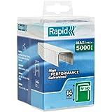 Rapid, 40303092, Agrafes N°140, Longueur 14mm, 5000 pièces, Pour les travaux de construction et d'isolation, Fil galvanisé, Haute performance