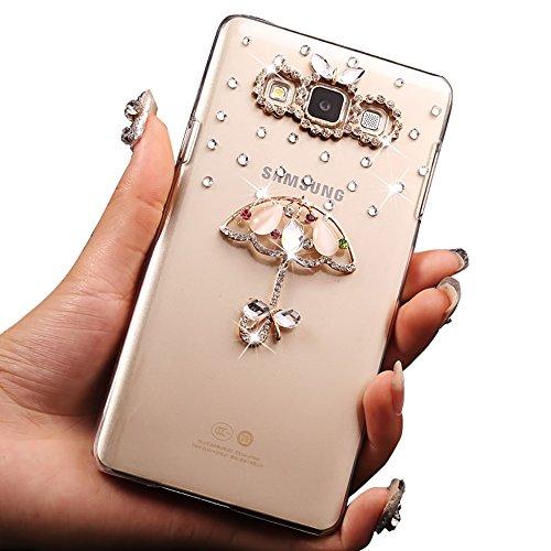 para Samsung Galaxy Grand Plus / Grand Neo / Grand Lite GT-I9060I i9060 i9062 i9082 Funda Caja Cristal Duro Brillo de Bling Delgado 3D Shell Sunroyal Transparente Dura de la PC Bling Delgada Caja Gel  Foto2