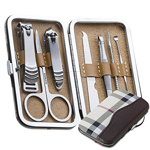 Wahl Clipper Glove (7 PCS Pedicure / Manicure Set Nail Clippers Cleaner Cuticle Grooming Kit Case Free shipping)