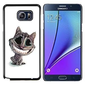 YiPhone /// Prima de resorte delgada de la cubierta del caso de Shell Armor - Lol divertido del gato grande de la sonrisa - Samsung Galaxy Note 5 5th N9200