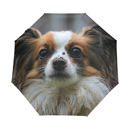 WIHVE Dog Barbie Umbrella Auto Open Close Windproof Compact