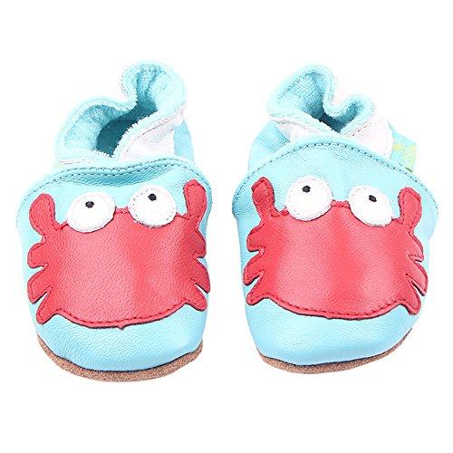 Vesi-Zapatos para bebé Primeros Pasos Zapatillas Infantiles para Niño/Niña Antideslizante Respirable Corazón Talla M:6-9 Meses Cangrejo