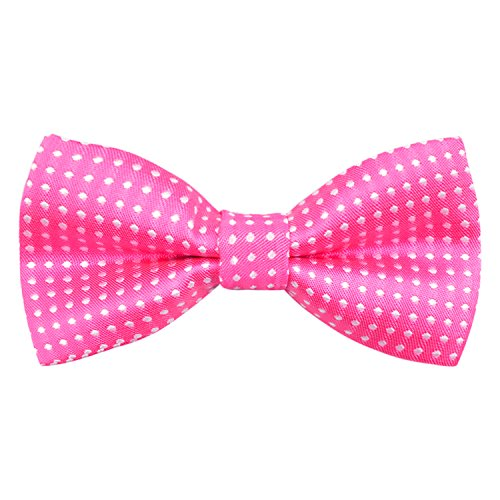 Alizeal Boys Polka Dot Pre-tied Bow Ties (Hot Pink)