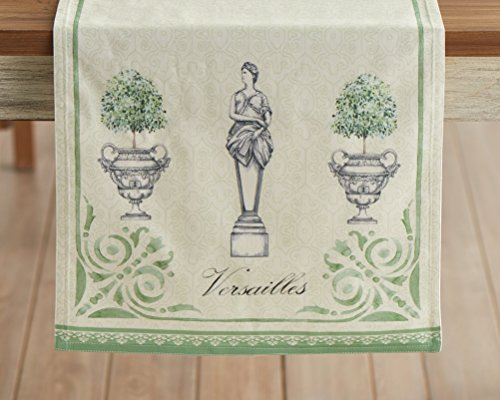 Maison d' Hermine Jardin du Roy 100% Cotton Table Runner 14.5 Inch by 72 Inch (Table Jardin)