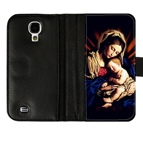 samsung-galaxy-s4-i9500-wallet-diary-case-shell-flip-folio-with-mother-of-god-image-leather-cover
