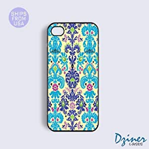 iPhone 4 4s Case - Modern Damask Pattern iPhone Cover