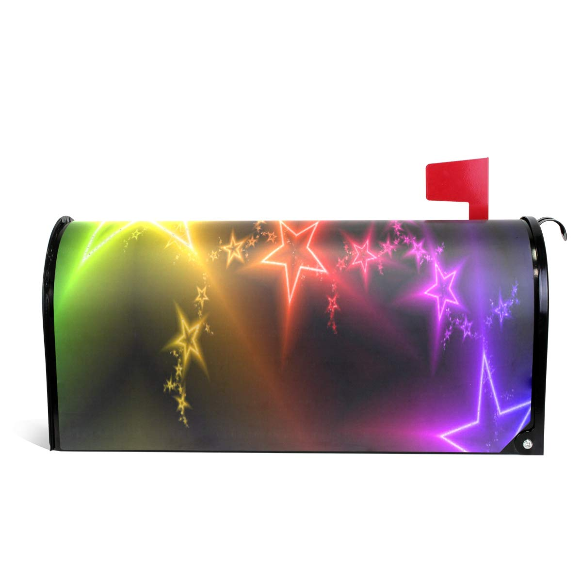 CHENG XIN Mailbox Cover Personalized Colorful Star Light Magnetic PVC Suitable for US Mailbox