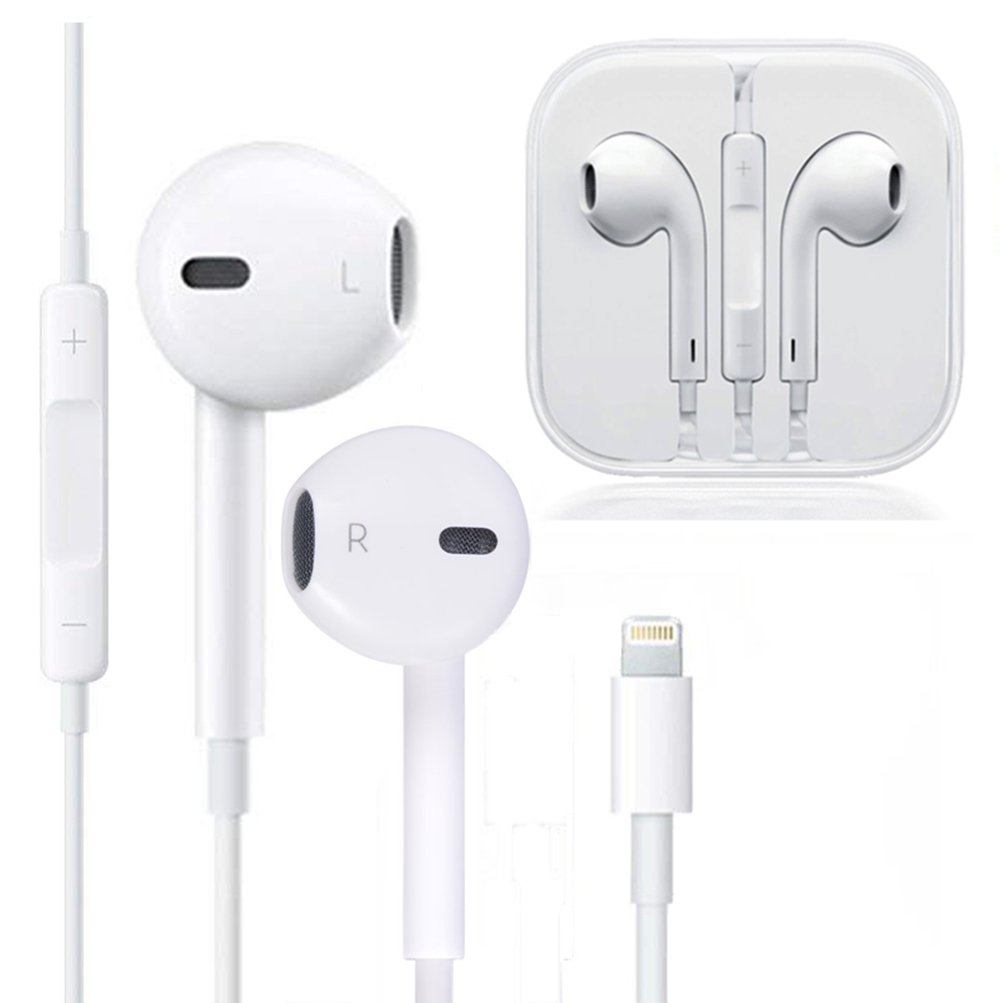 Lightning Earphones,With Microphone Earbuds Stereo Headphones and Noise Isolating headset Made for iPhone 7/7 Plus iPhone8/8Plus iPhone X Earphones,Support all iOS system