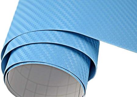 Neoxxim 5 M2 Auto Folie Carbon Folie 3d Carbonfolie Hell Blau 500 X 150 Cm Blasenfrei Klebefolie Dekor Auto
