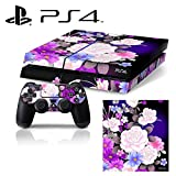 Ci-Yu-Online [PS4] Flower Rose Purple Whole Body VINYL SKIN STICKER DECAL COVER for PS4 Playstation 4 System Console and Controllers