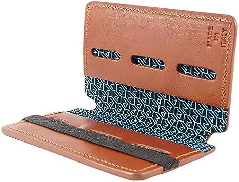 4V Design Wally - Estuche para Tarjetas SD en Cuero, Color marrón: Amazon.es: Electrónica