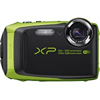 Fujifilm FinePix XP90 Waterproof Digital Camera (Lime) (International Model) No Warranty