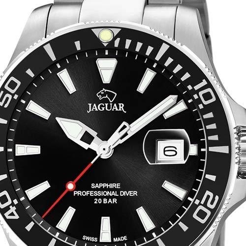 Reloj Jaguar Acamar J860/4 sumergible 200 m Esfera y bisel negros: Amazon.es: Relojes