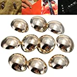 10pcs Gold Galvanized Alloy Dome Sewing Buttons DIY Craft Clothes Bag Hat ...