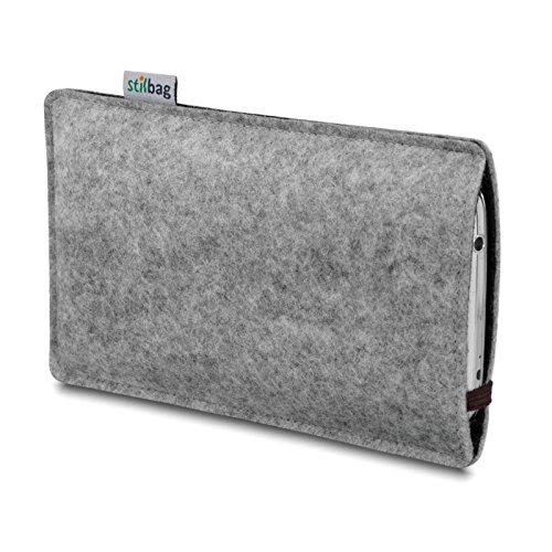 Stilbag Etui Feutre 'LEON' pour Apple iPhone 3Gs - Couleur: brun-gris