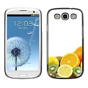 TopCaseStore / la caja del caucho duro de la cubierta de protección de la piel - Fruit Macro Fruits Combo - Samsung Galaxy S3 I9300