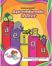 Lectura Inicial | Aprendiendo a Leer | Actividades para niños de 4 años en español (Spanish Edition)