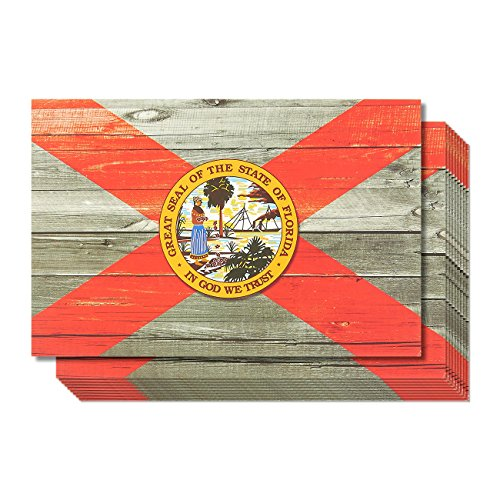 40-Pack Florida Postcards Set - Bulk Florida State Flag Travel Postcards, 4 x 6 Inches