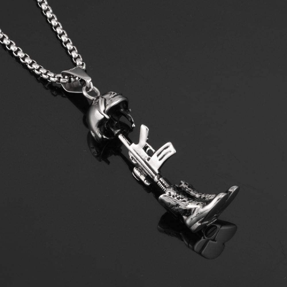 Necklace,Mens Jewelry Necklace Hip Hop Nightclub Bar Street Accessories Men and Women Titanium Steel Necklace Pendant
