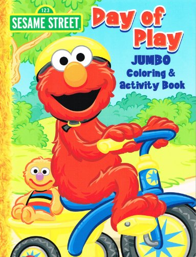 amazoncom sesame street elmo jumbo coloring book day of play toys games - Sesame Street Coloring Books