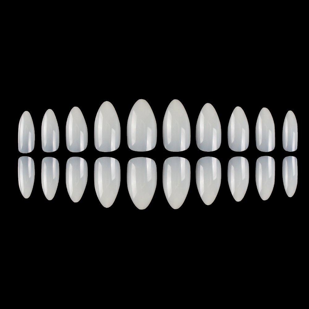 Amazon.com: False Nails Fake Nails Short Coffin Nail Tips 600PCS ...