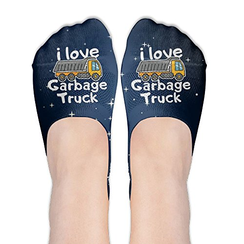 I Love Garbage Trucks Womens Thin Casual No Show Socks Non Slip Flat Boat Line by Wendengly