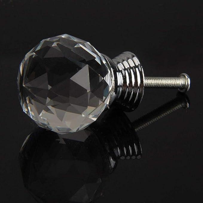 gabinete de ba/ño Desconocido 2pcs perillas de gabinete Tiradores de caj/ón de Cristal perillas de Muebles de Diamante Artificial de 30 mm para Cocina Armario y Armario por TheBigThumb