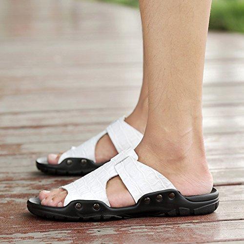 @Sandals Nuevo Estilo De Verano Hombre De Zapatos, Zapatillas, Sandalias O Zapatos,45,Blanco 45|white
